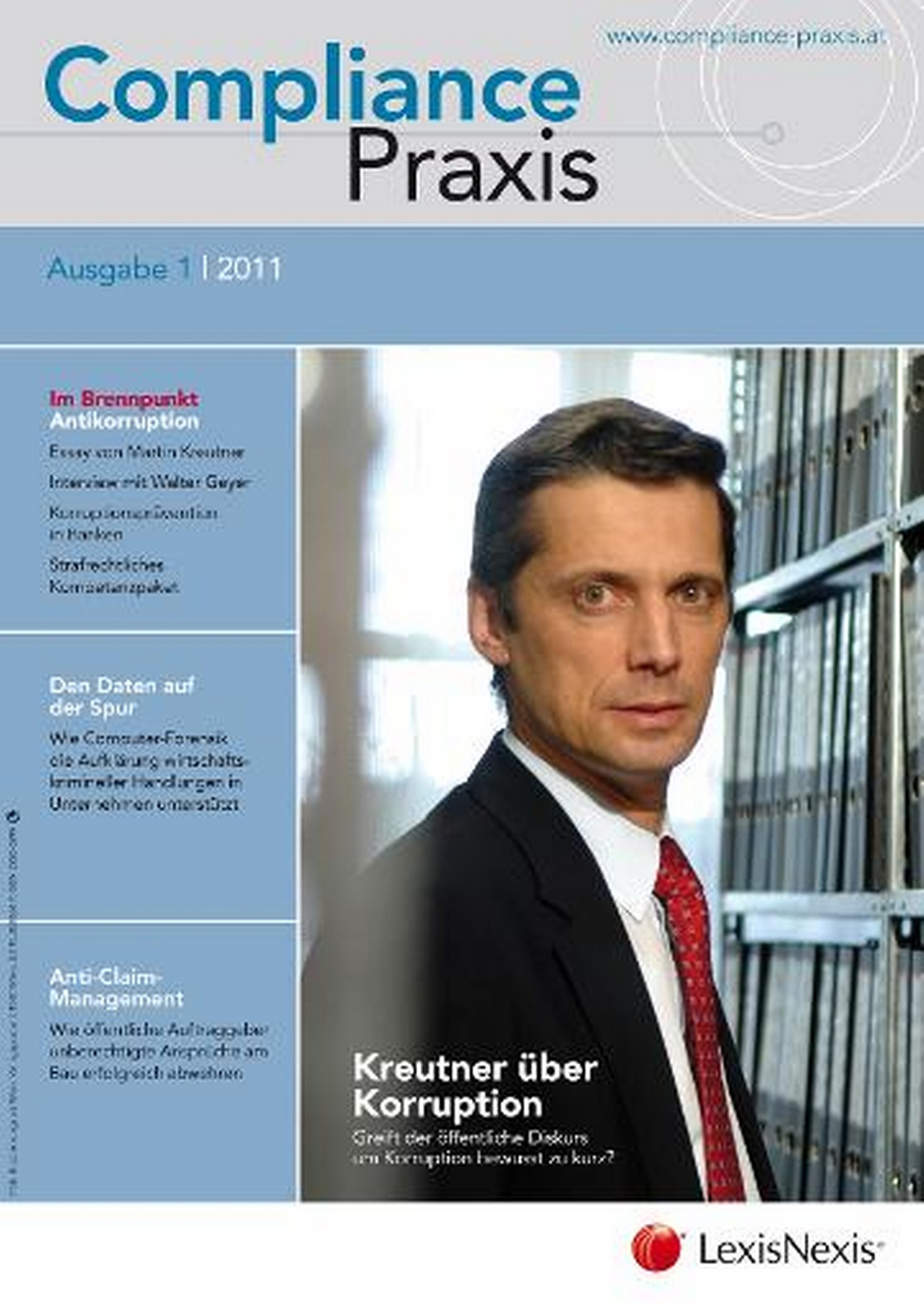 Cover von Compliance Praxis Ausgabe 1/2011, © LexisNexis