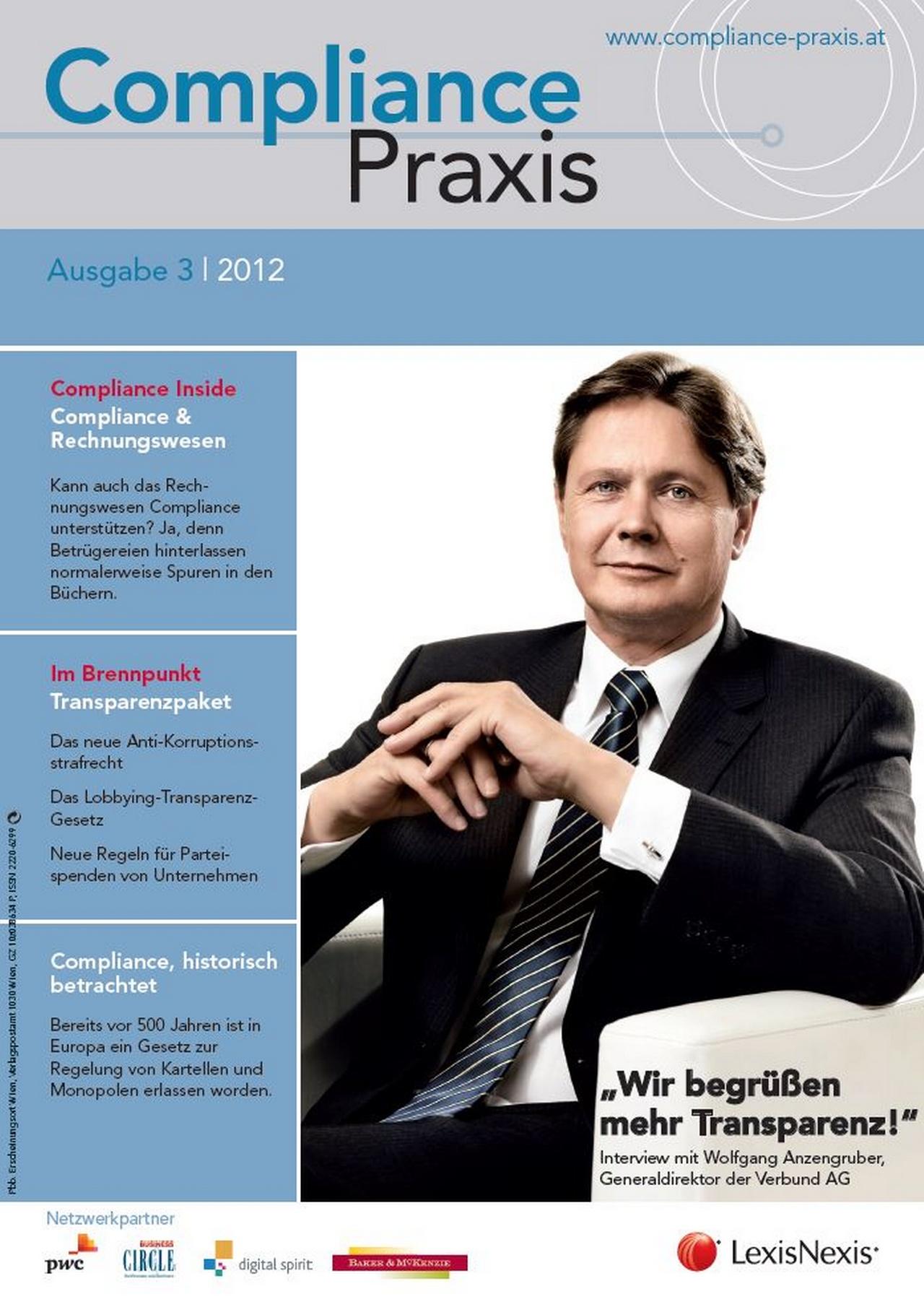 Cover von Compliance Praxis Ausgabe 3/2012, © LexisNexis