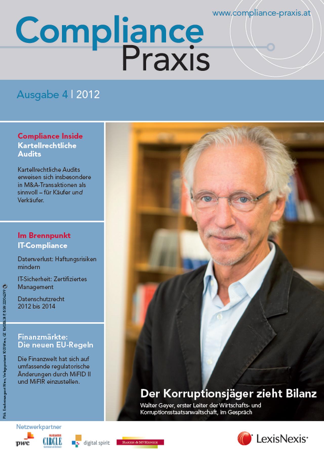 Cover von Compliance Praxis Ausgabe 4/2012, © LexisNexis