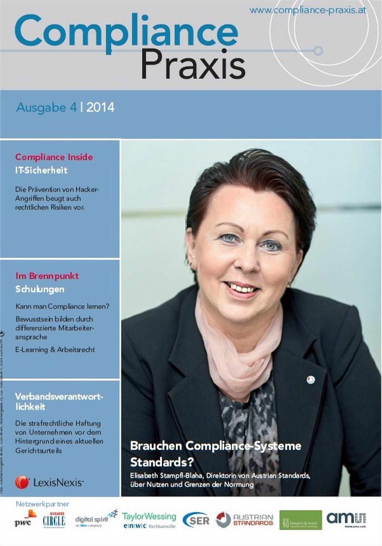 Cover von Compliance Praxis Ausgabe 4/2014, © LexisNexis