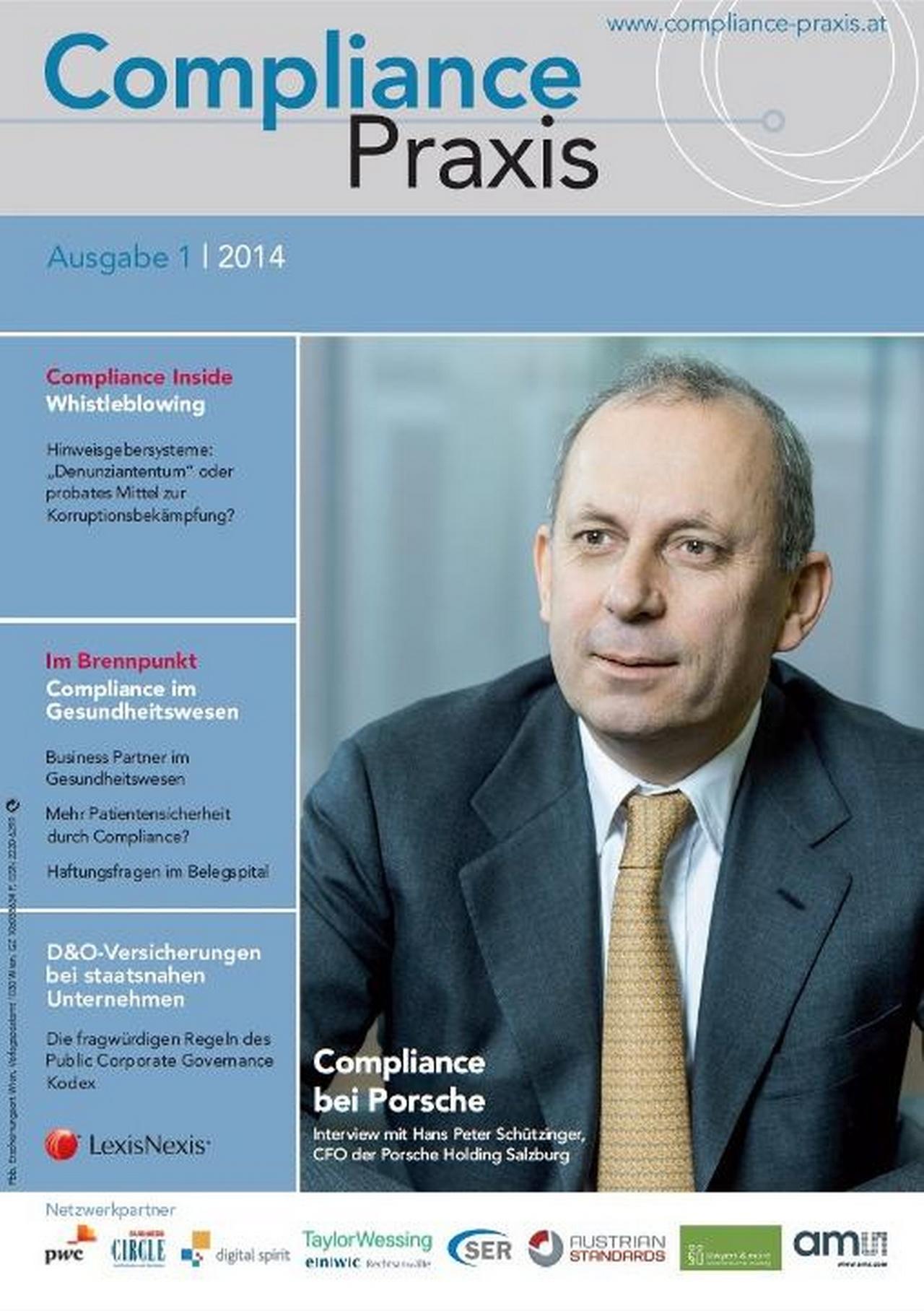 Cover von Compliance Praxis Ausgabe 1/2014, © LexisNexis