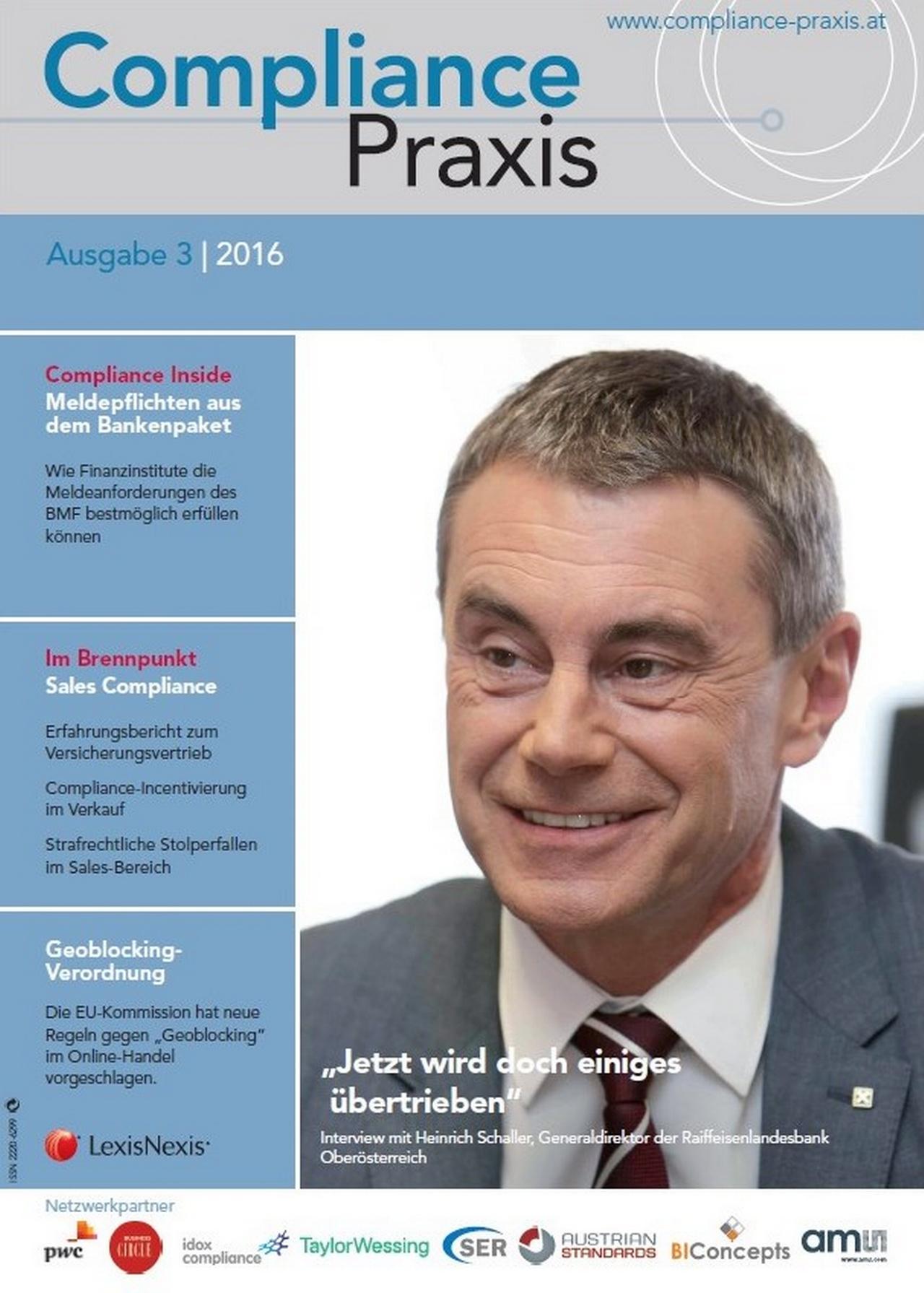 Cover von Compliance Praxis Ausgabe 3/2016, © LexisNexis