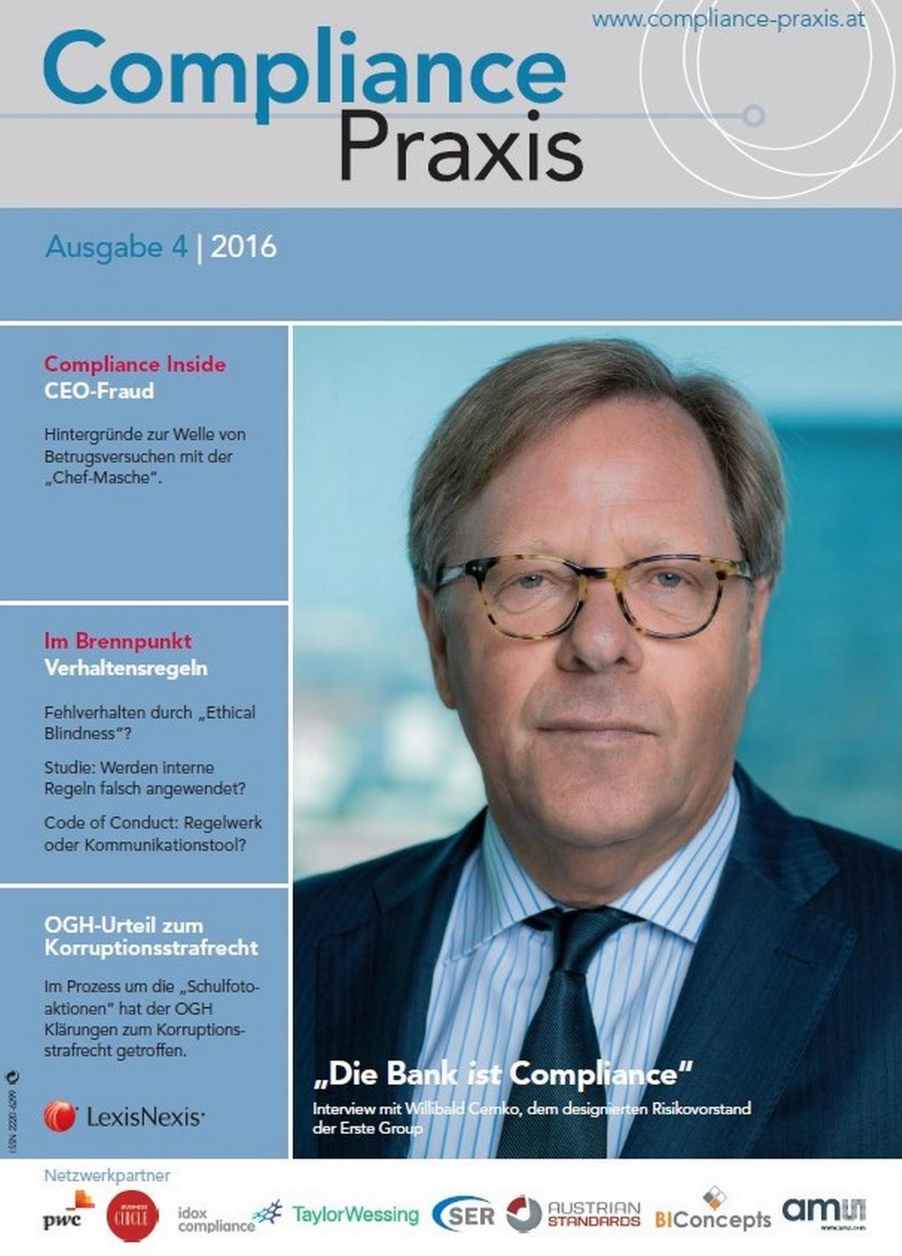 Cover von Compliance Praxis Ausgabe 4/2016, © LexisNexis