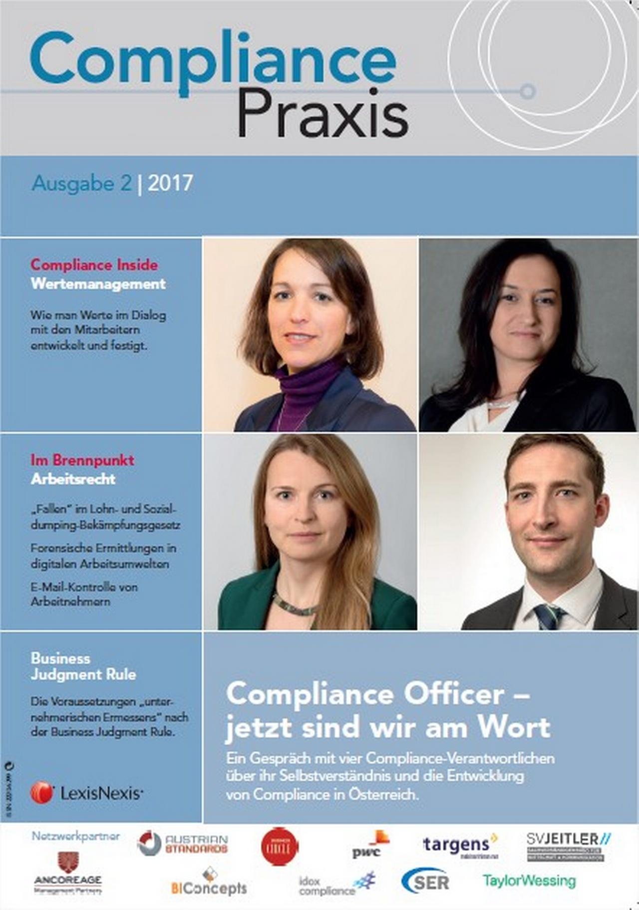 Cover von Compliance Praxis Ausgabe 2/2017, © LexisNexis