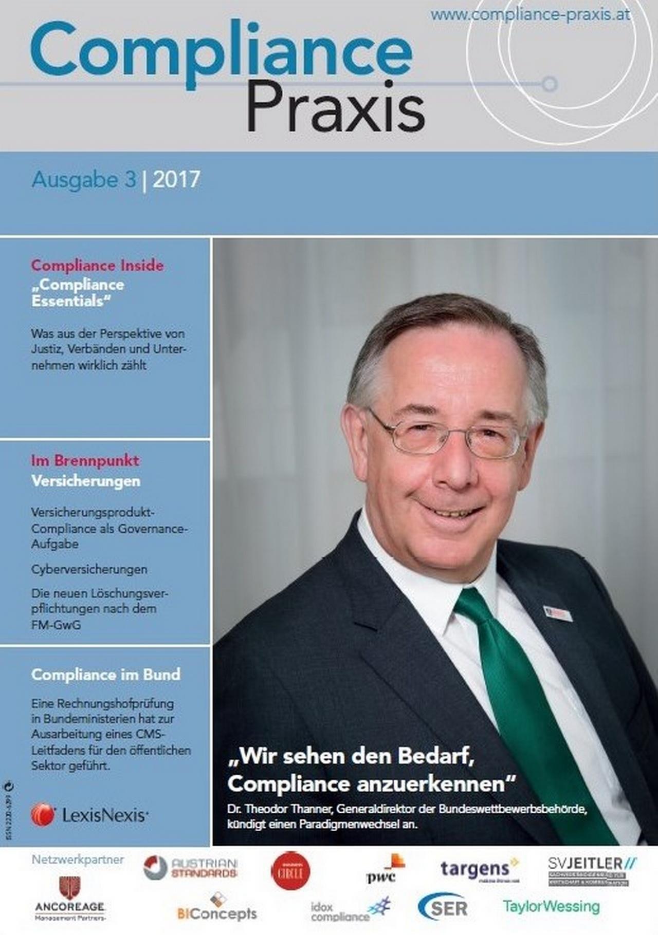 Cover von Compliance Praxis Ausgabe 3/2017, © LexisNexis
