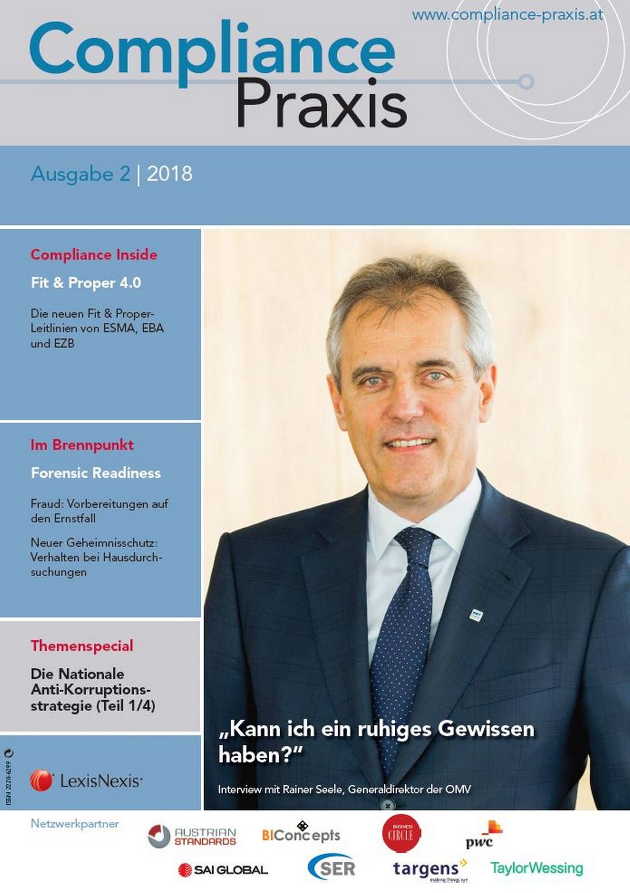 Cover von Compliance Praxis Ausgabe 2/2018, © LexisNexis