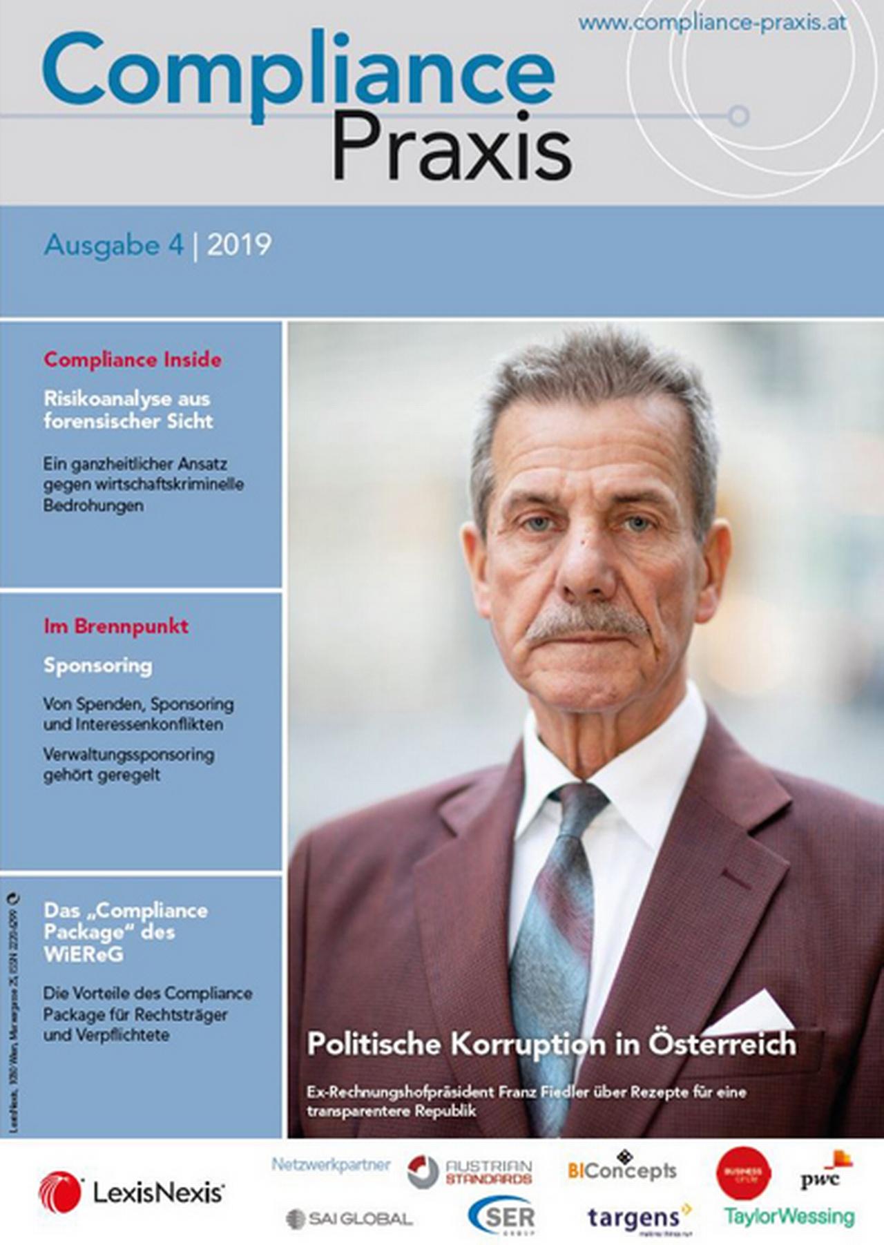 Cover von Compliance Praxis Ausgabe 4/2019, © LexisNexis