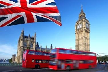 Großbritannien Flagge Doppeldeckerbus London