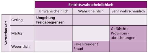 Abbildung 3: Risk Assessment Matrix inkl exemplarischer Risikofelder, © PwC Österreich GmbH