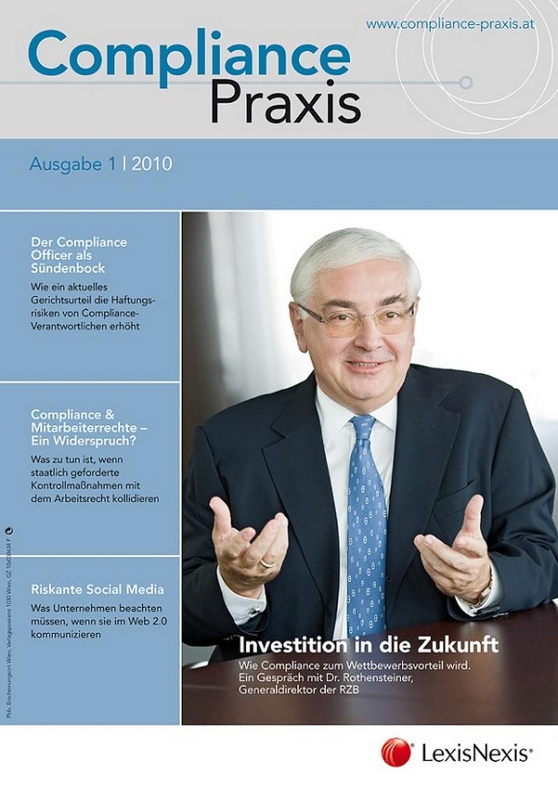 Cover von Compliance Praxis Ausgabe 1/2010, © LexisNexis