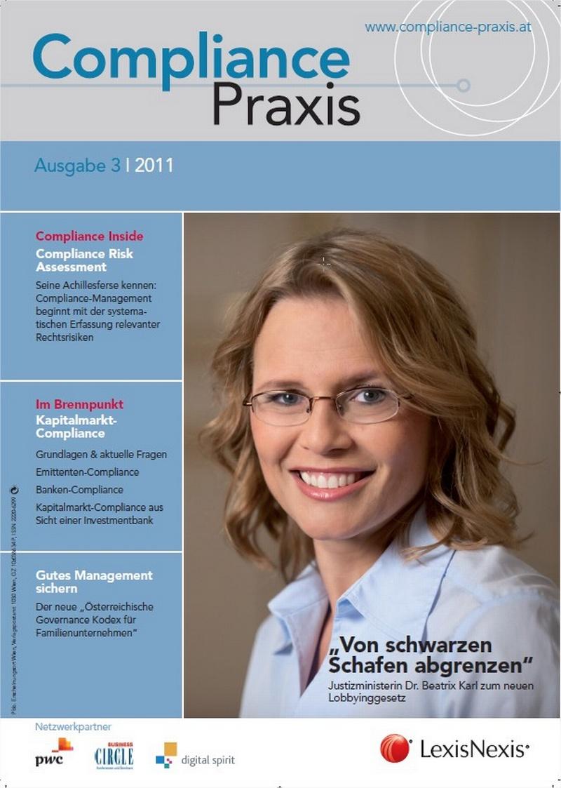 Cover von Compliance Praxis Ausgabe 3/2011, © LexisNexis