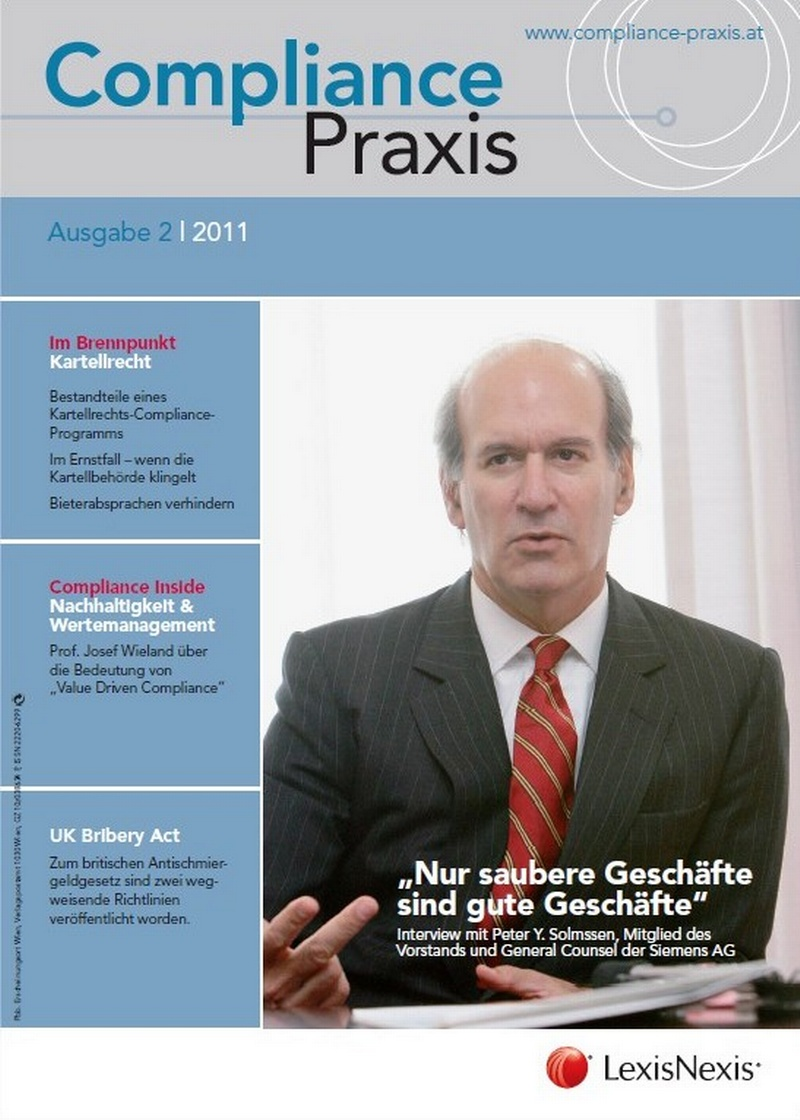 Cover von Compliance Praxis Ausgabe 2/2011, © LexisNexis