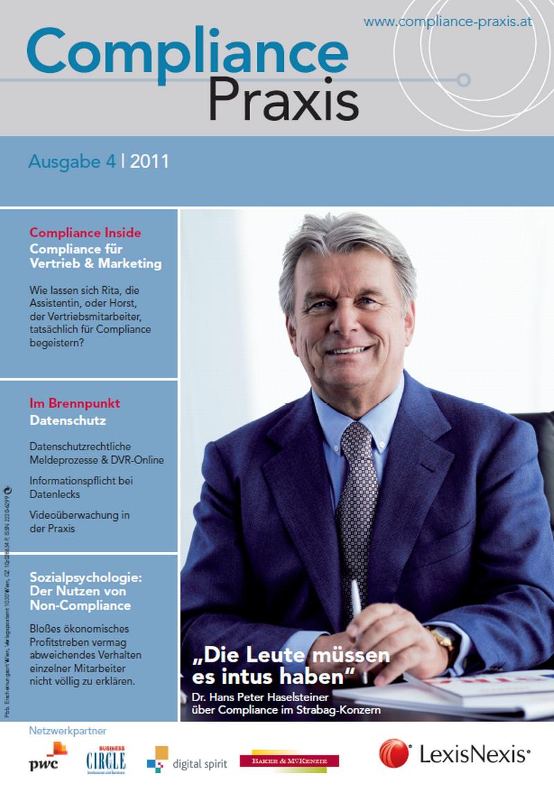 Cover von Compliance Praxis Ausgabe 4/2011, © LexisNexis