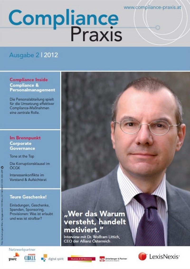 Cover von Compliance Praxis Ausgabe 2/2012, © LexisNexis