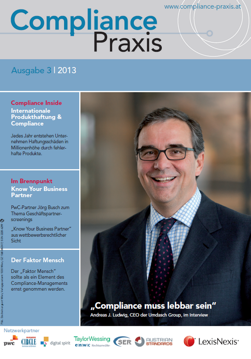 Cover von Compliance Praxis Ausgabe 3/2013, © LexisNexis