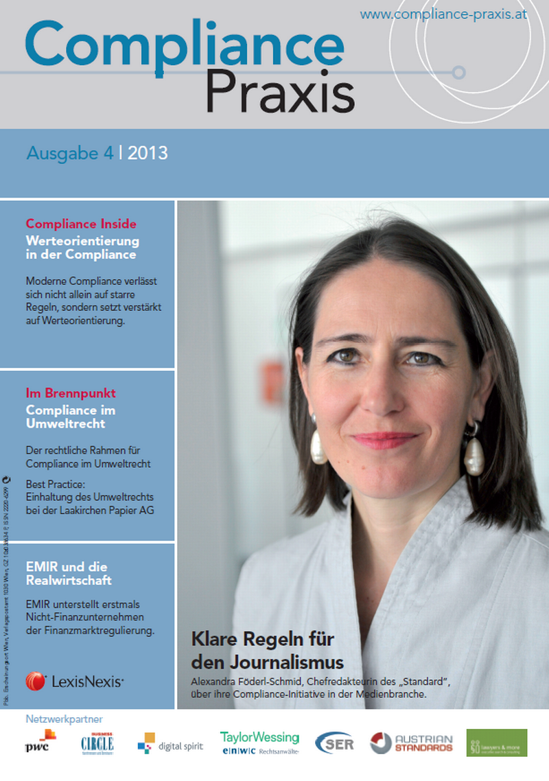 Cover von Compliance Praxis Ausgabe 4/2013, © LexisNexis