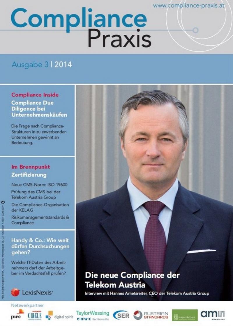 Cover von Compliance Praxis Ausgabe 3/2014, © LexisNexis