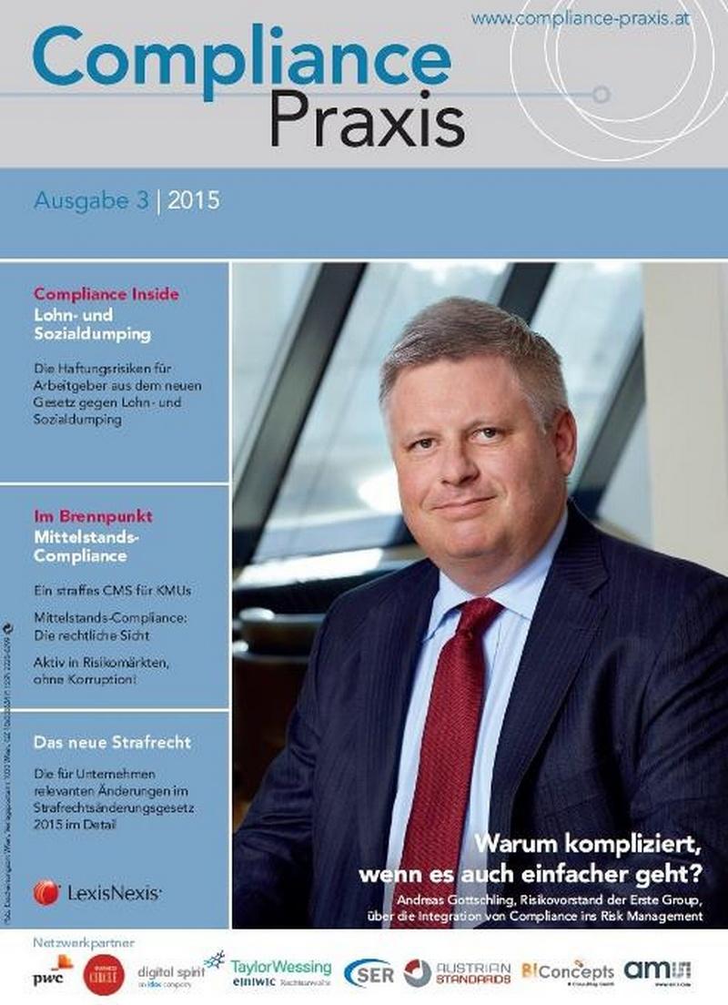 Cover von Compliance Praxis Ausgabe 3/2015, © LexisNexis