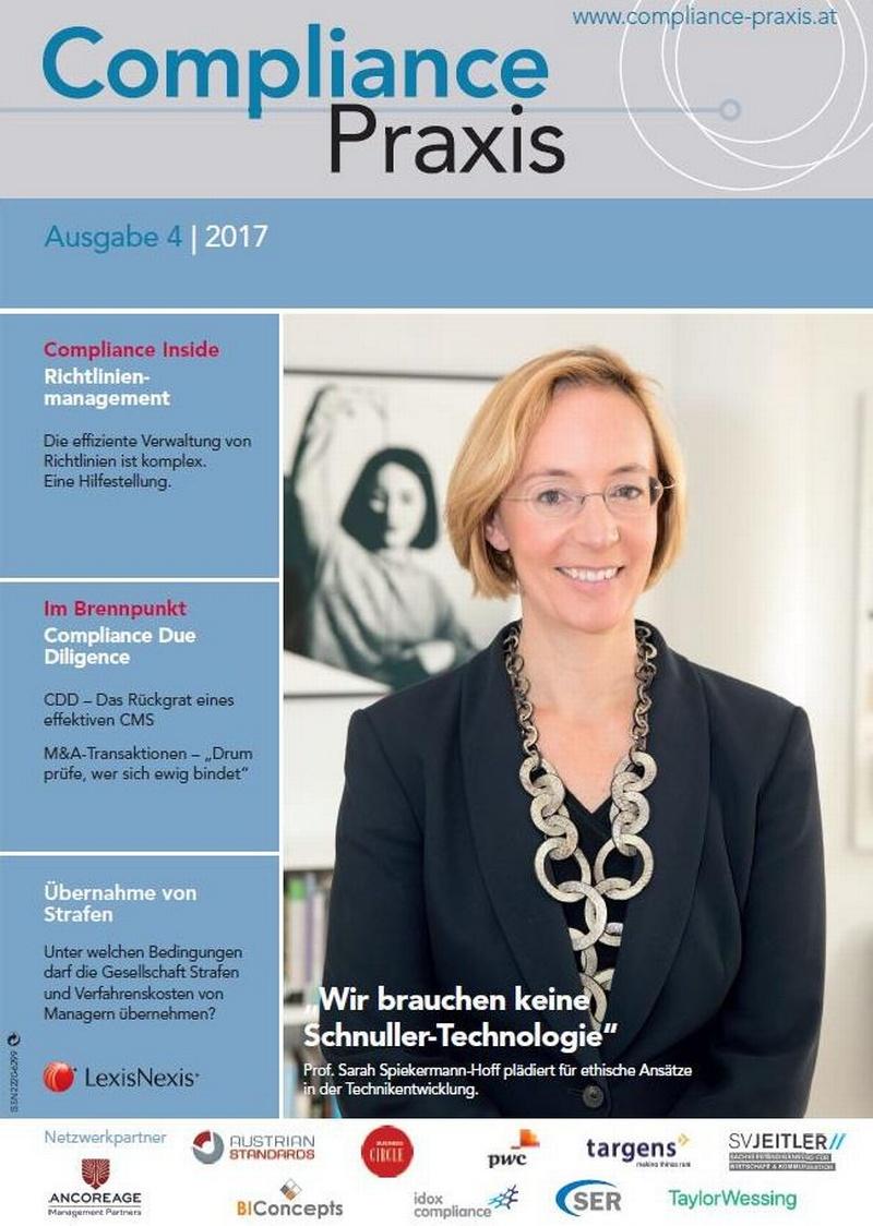 Cover von Compliance Praxis Ausgabe 4/2017, © LexisNexis
