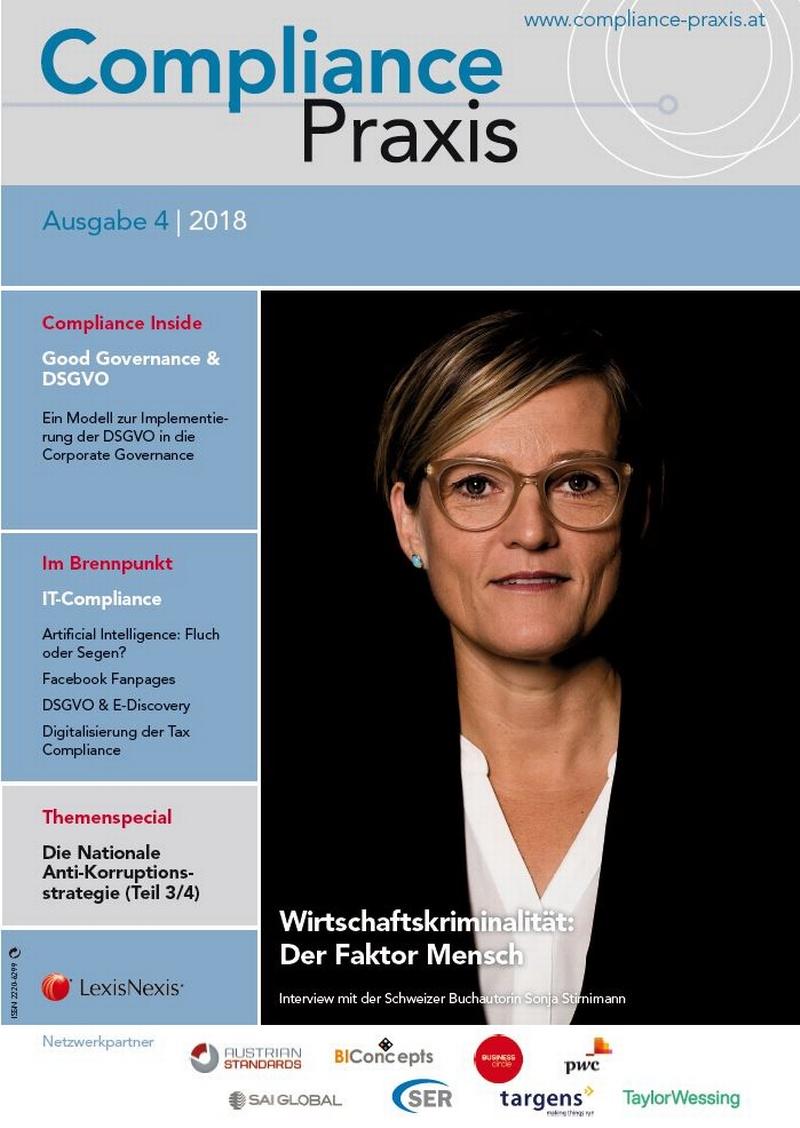 Cover von Compliance Praxis Ausgabe 4/2018, © LexisNexis