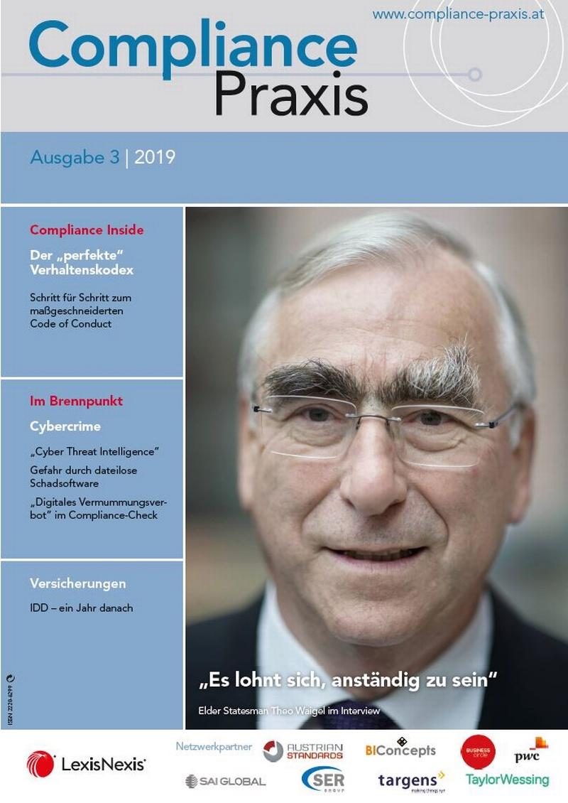 Cover von Compliance Praxis Ausgabe 3/2019, © LexisNexis