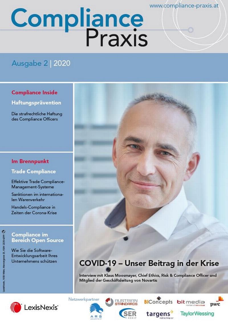 Cover von Compliance Praxis Ausgabe 2/2014, © LexisNexis