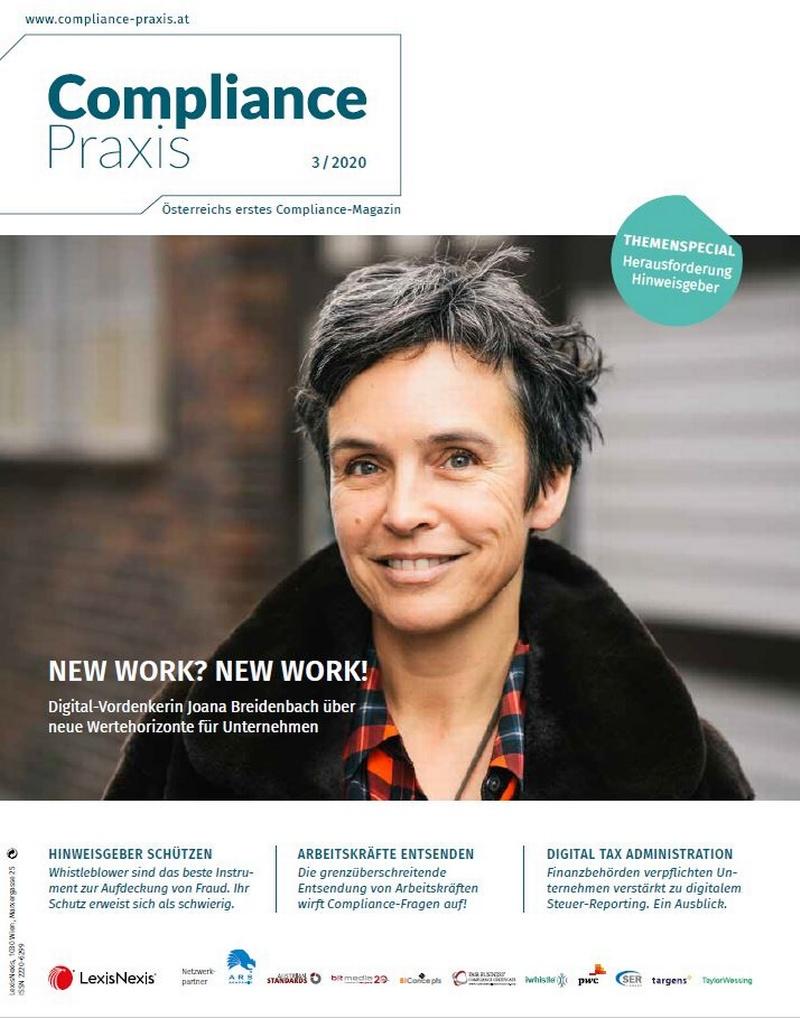Cover von Compliance Praxis Ausgabe 3/2020, © LexisNexis