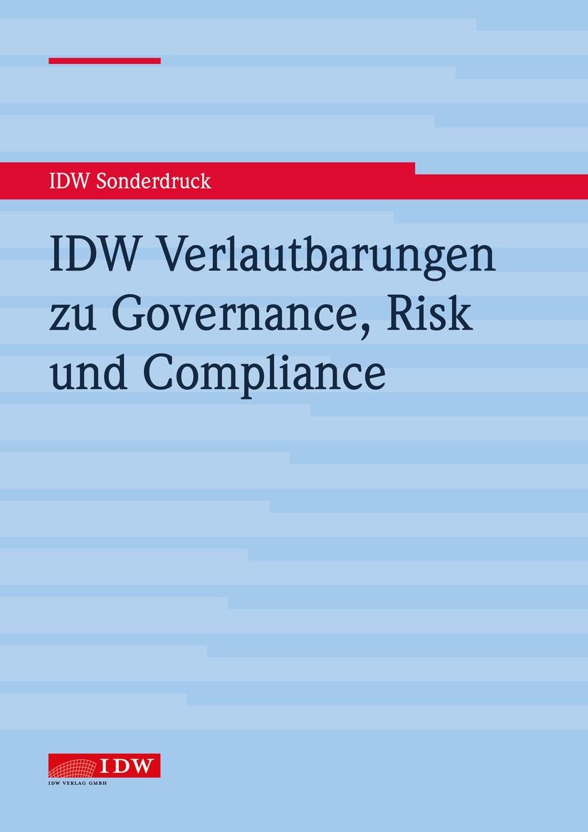 Cover IDW-Verlautbarungen, © IDW Verlag